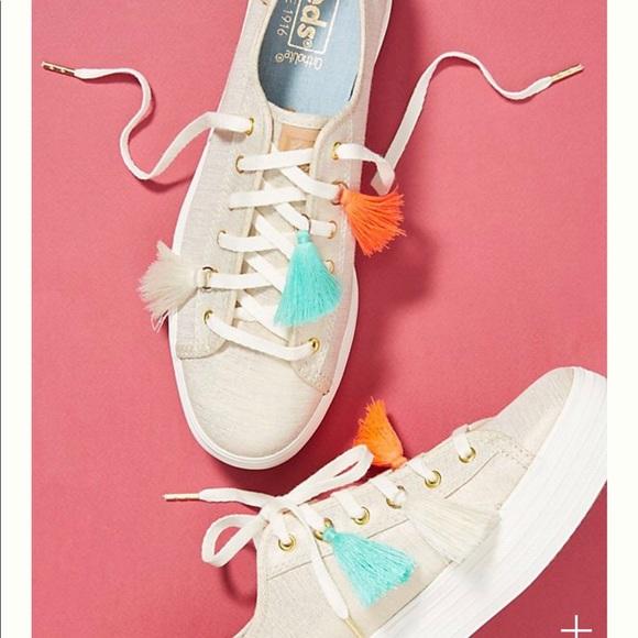 4d2bf0358449 Anthropologie Keds triple kick tassel sneakers